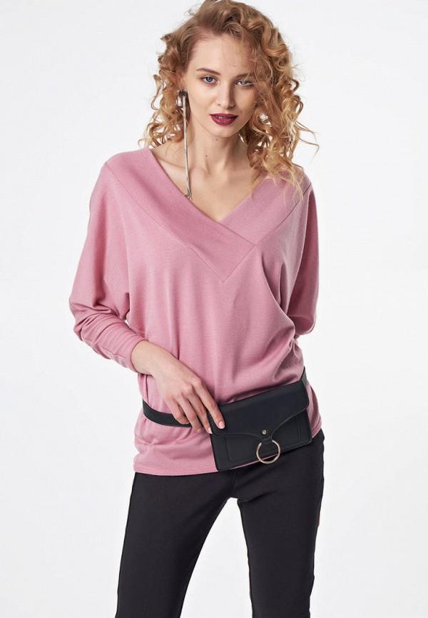 женский пуловер fly, розовый