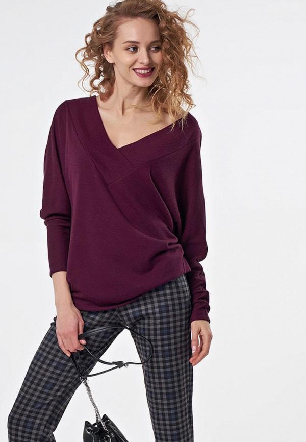 женский пуловер fly, бордовый