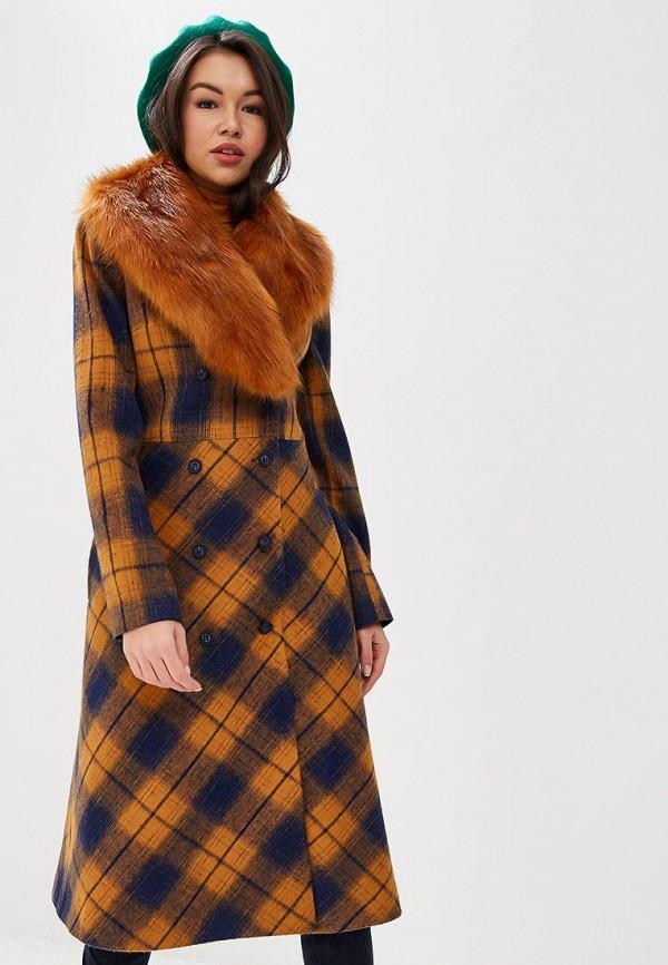 женское пальто ksenia knyazeva, оранжевое