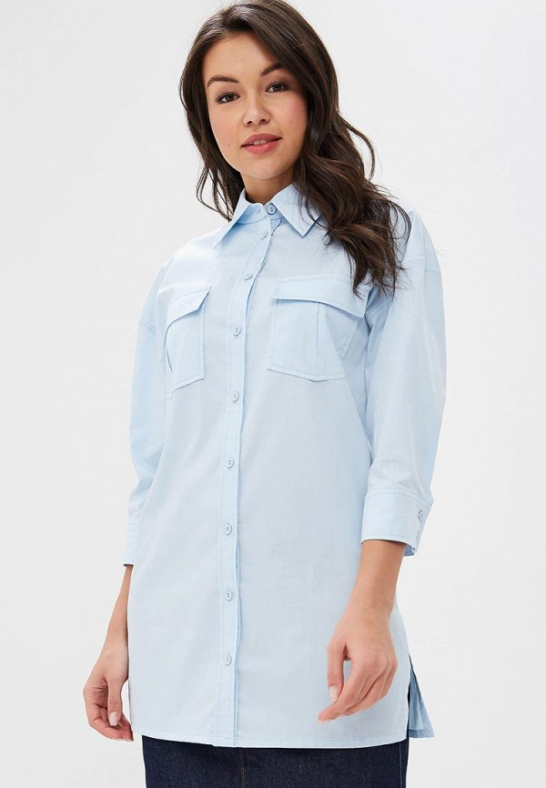 женская рубашка с длинным рукавом ksenia knyazeva, голубая