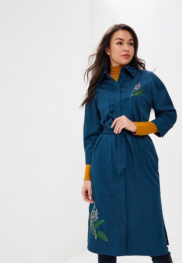 женское платье ksenia knyazeva, бирюзовое