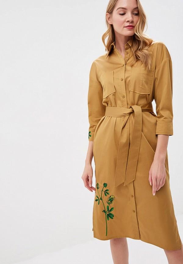 женское повседневные платье ksenia knyazeva, коричневое