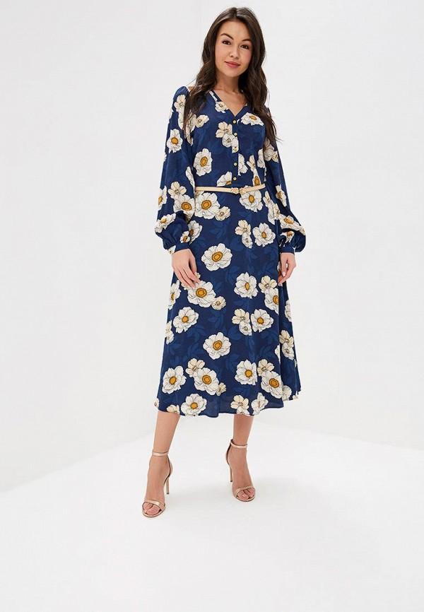 женское повседневные платье ksenia knyazeva, синее