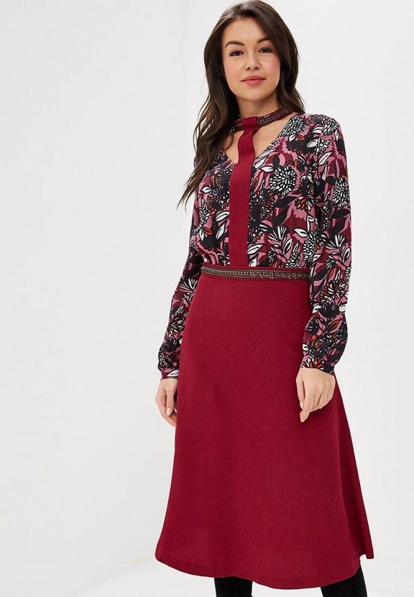 женское повседневные платье ksenia knyazeva, бордовое