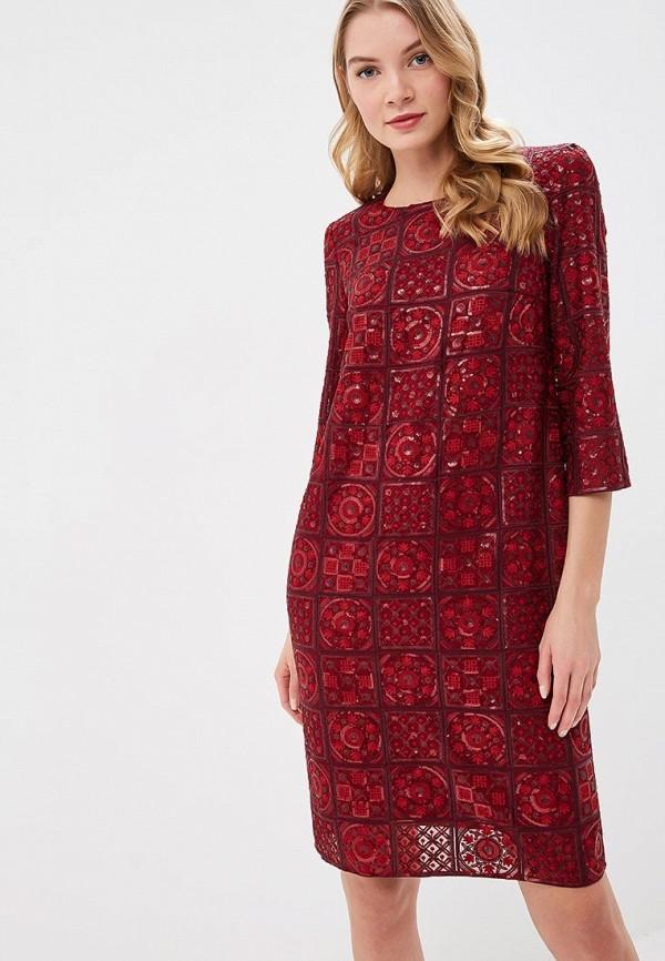 женское вечерние платье ksenia knyazeva, бордовое