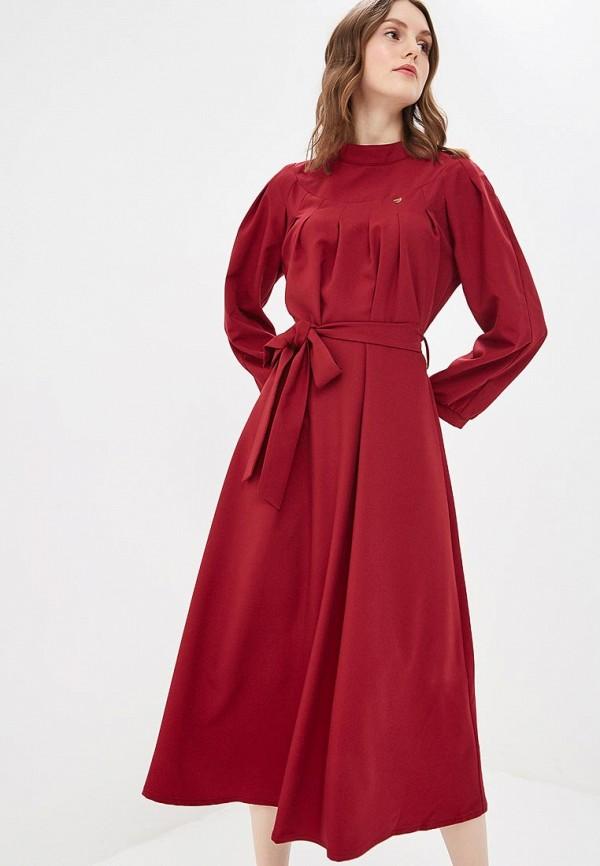 женское повседневные платье bezko, бордовое