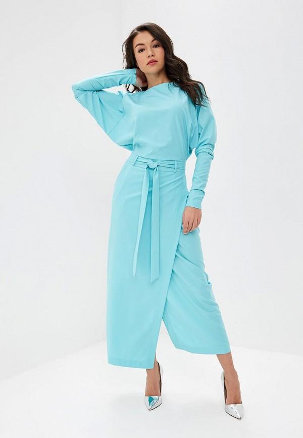женское повседневные платье bezko, голубое