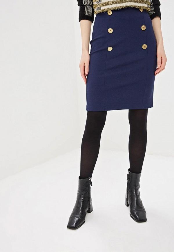 женская прямые юбка freespirit, синяя