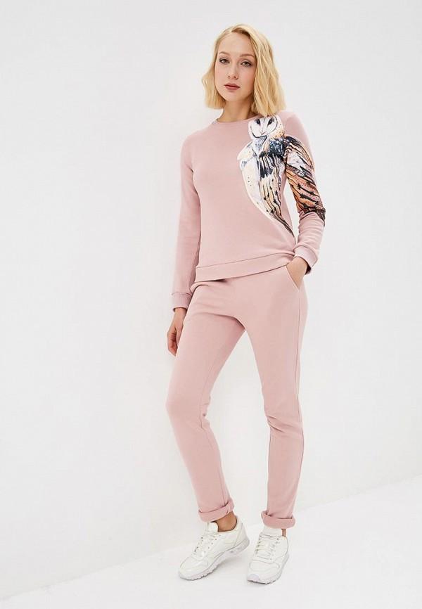 женский спортивные спортивный костюм fashion.love.story, розовый