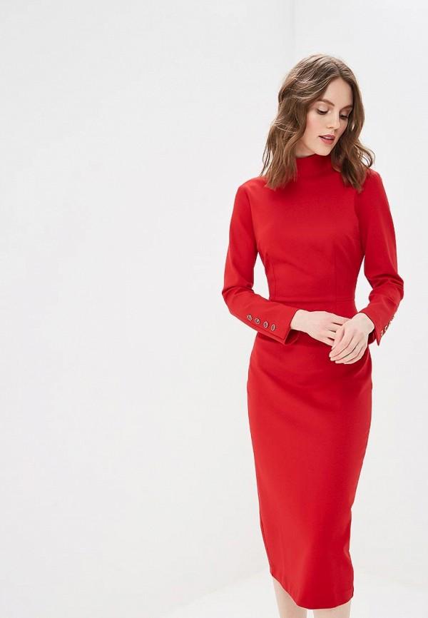 женское платье-футляр bezko, красное