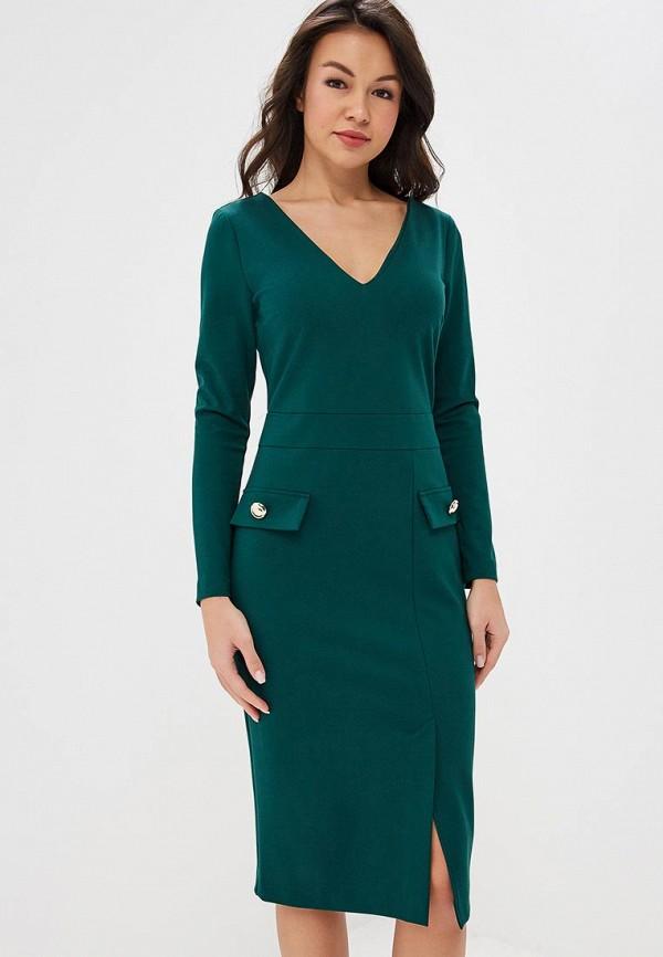 женское платье-футляр bezko, зеленое