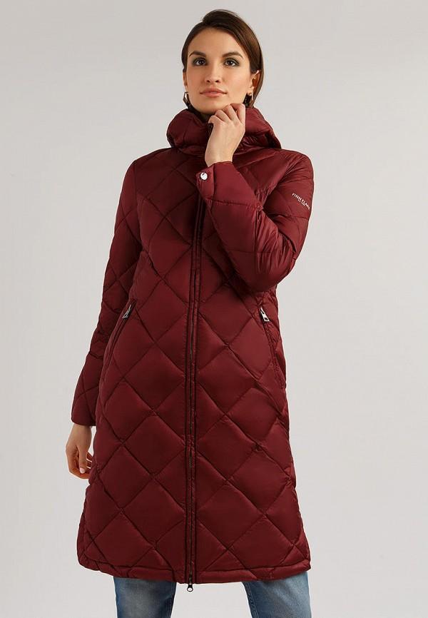 женская куртка finn flare, бордовая