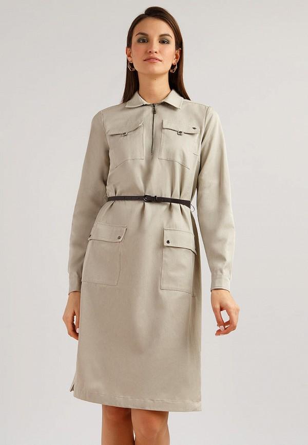 женское платье finn flare, серое