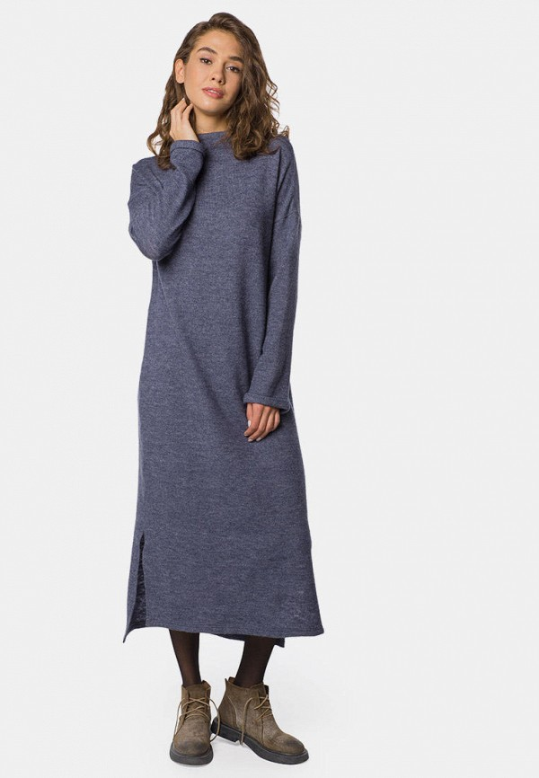 женское повседневные платье mr520, синее