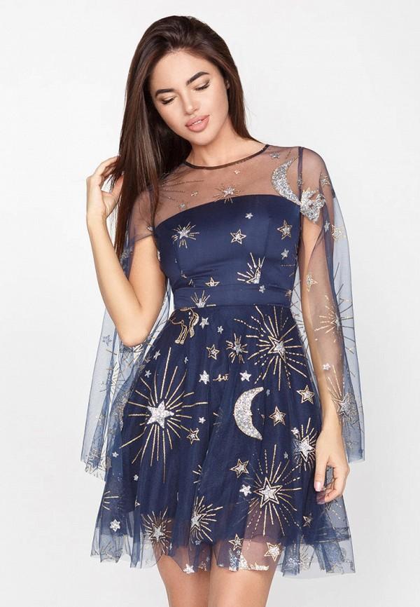 женское вечерние платье gepur, синее