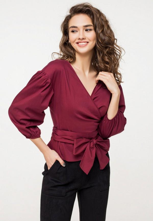 женская блузка itelle, бордовая