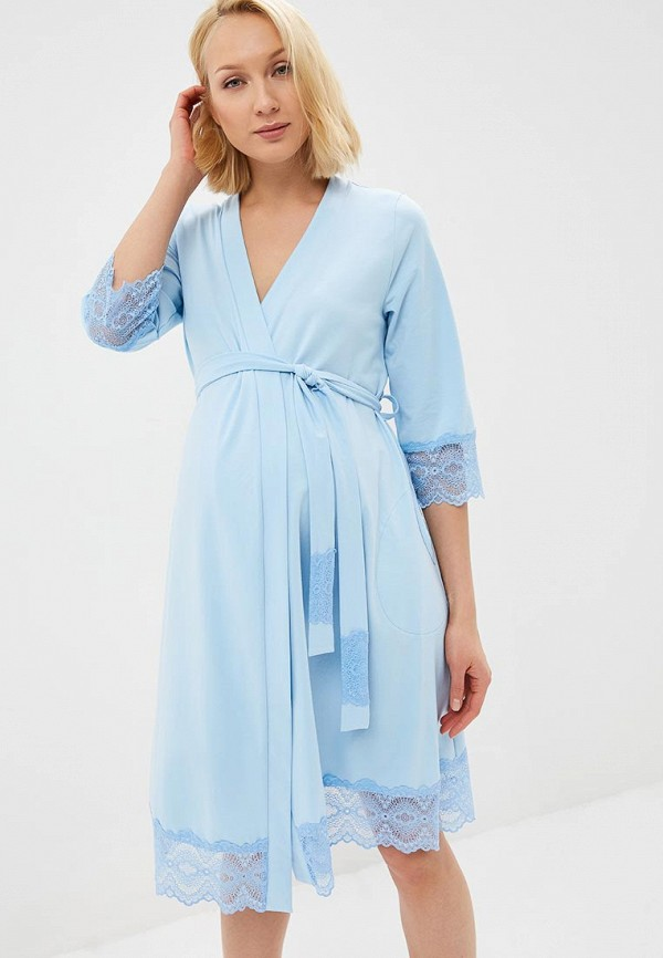 Купить Халат домашний Fest, mp002xw1i7ux, голубой, Весна-лето 2018