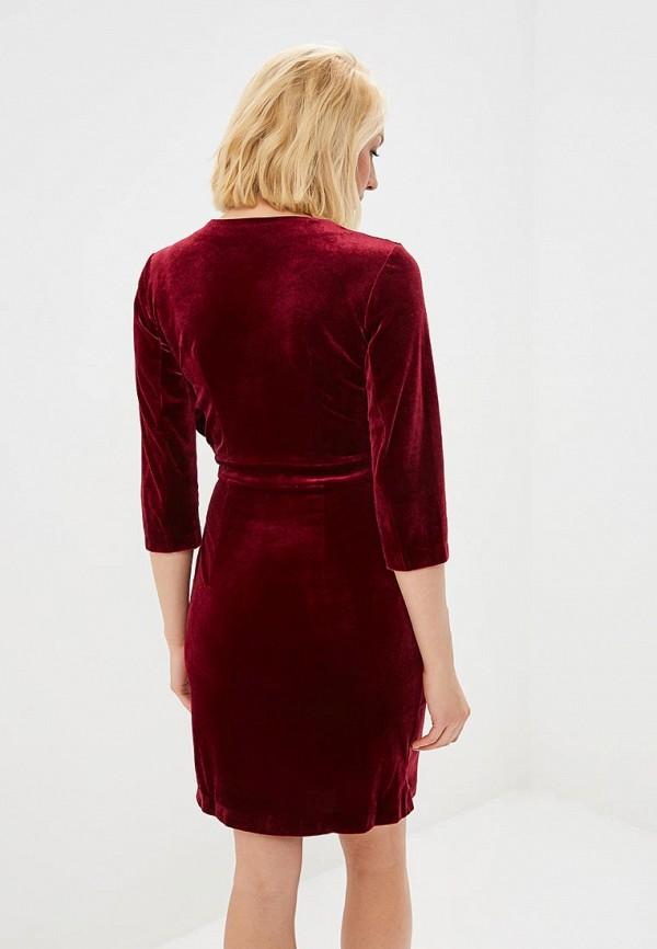 Фото 3 - Платье Chic mama бордового цвета