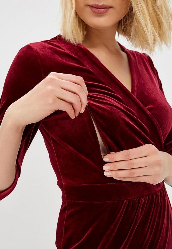 Фото 4 - Платье Chic mama бордового цвета