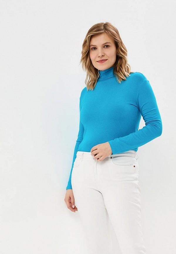женская водолазка adelante, голубая