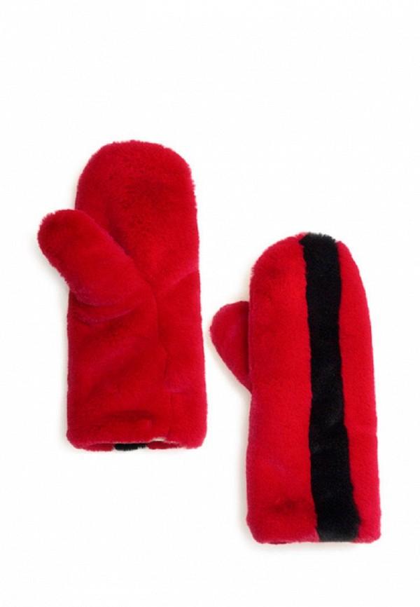 женские варежки moksi, красные