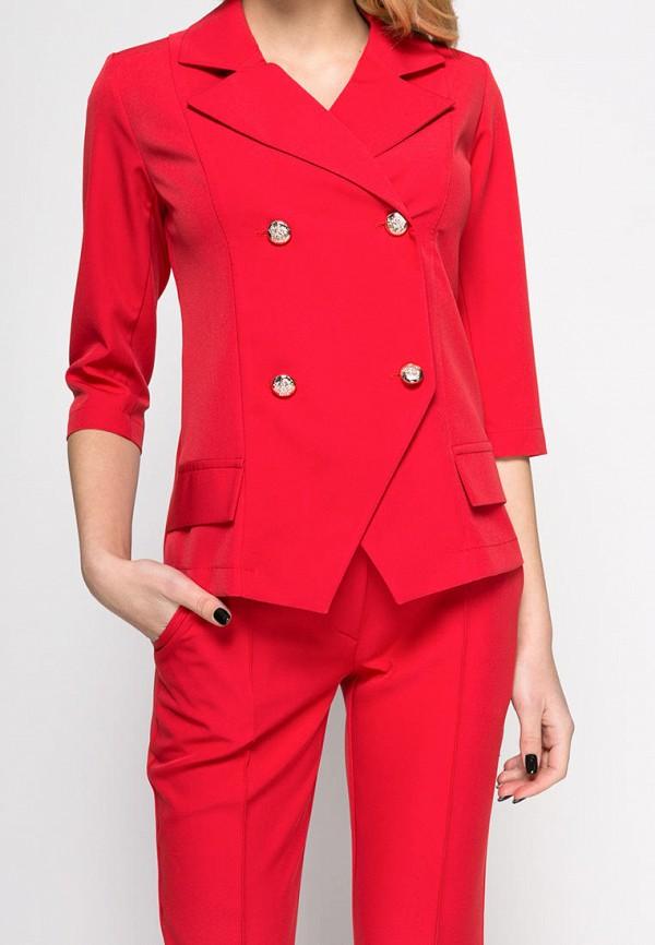 Фото 3 - женский пиджак Zubrytskaya красного цвета