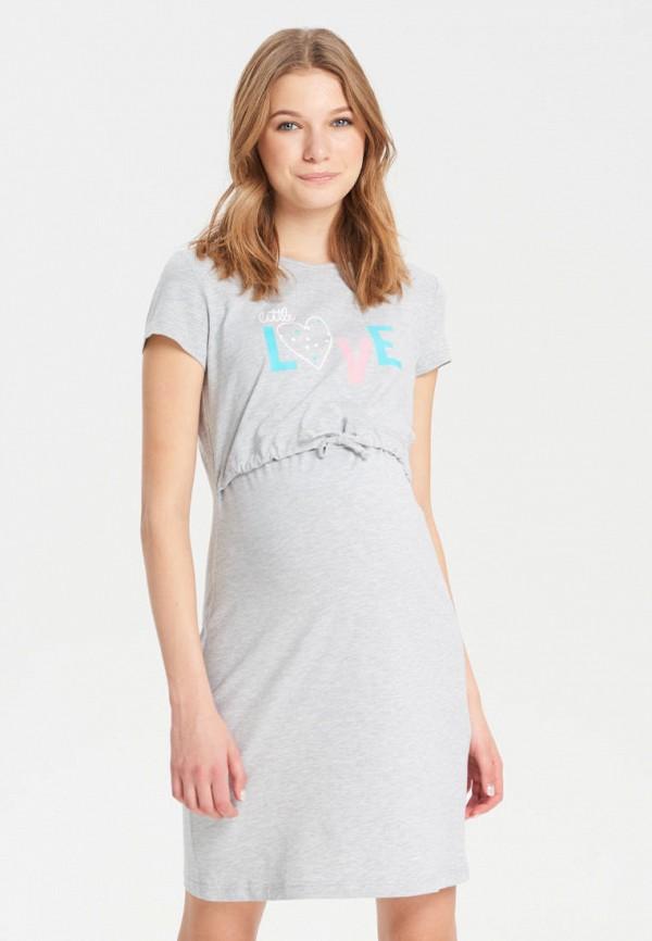 женское платье для беременных budumamoy, серое