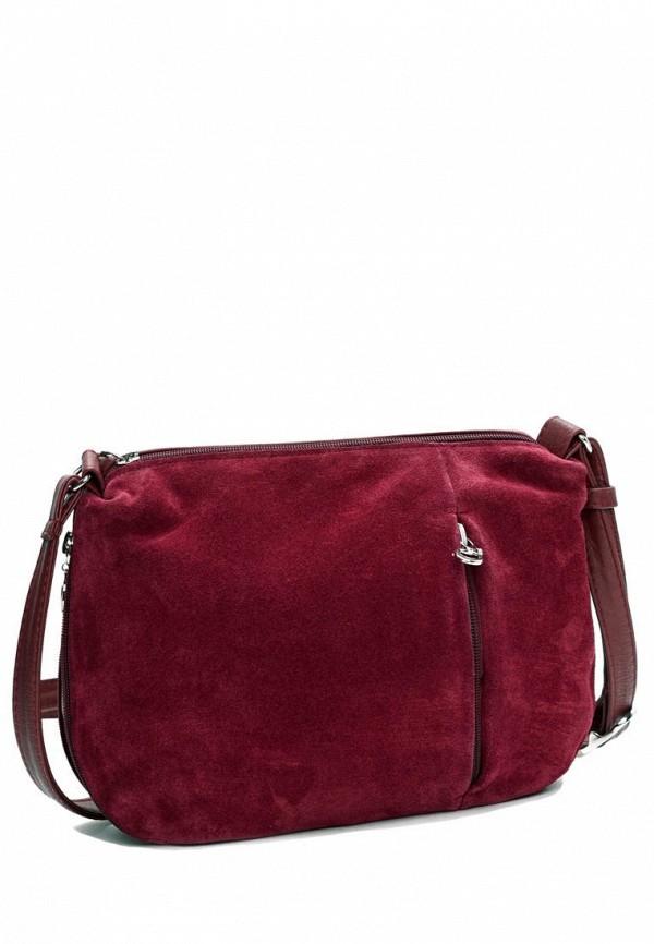 женская сумка через плечо vita, бордовая