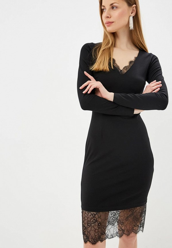 женское повседневные платье fashion.love.story, черное