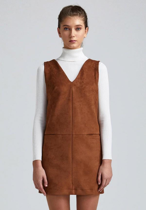 женское повседневные платье minimally, коричневое