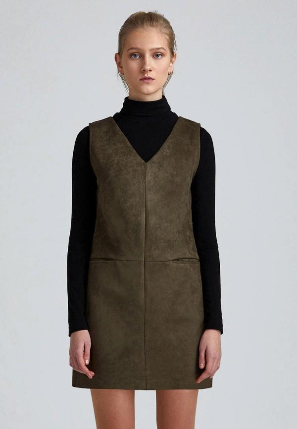 женское повседневные платье minimally, хаки