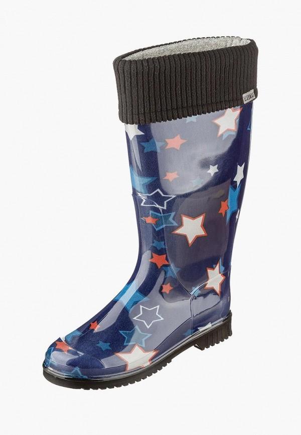 женские резиновые сапоги casual, синие