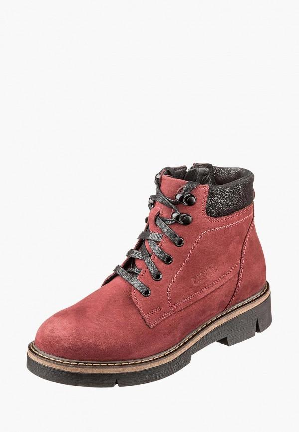 женские ботинки casual, красные