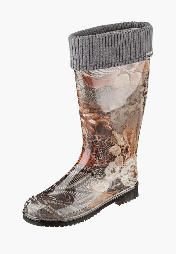 женские резиновые сапоги casual, коричневые