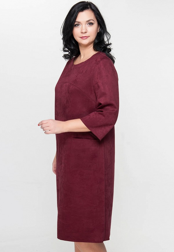 женское платье миди limonti, бордовое
