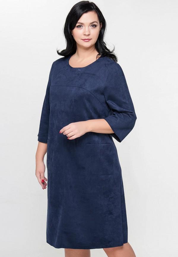 женское платье миди limonti, синее