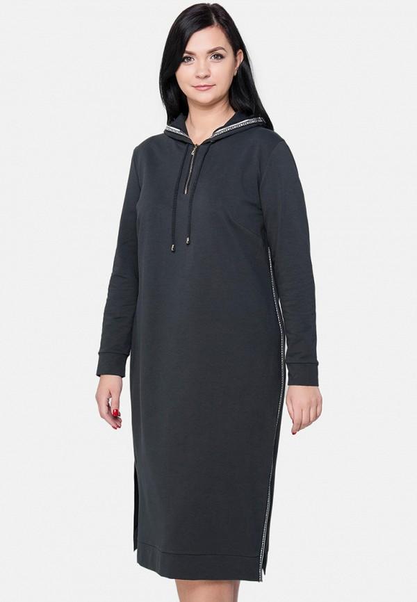 женское платье миди limonti, серое