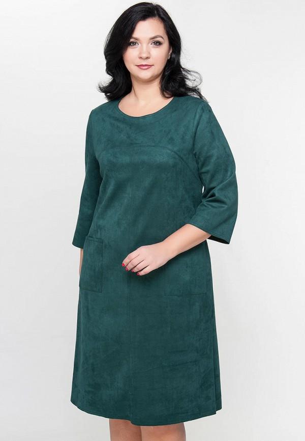 женское платье миди limonti, зеленое