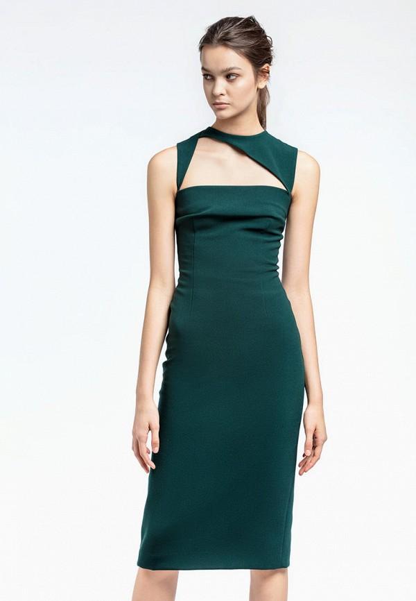 женское платье-футляр aina manasheva, зеленое