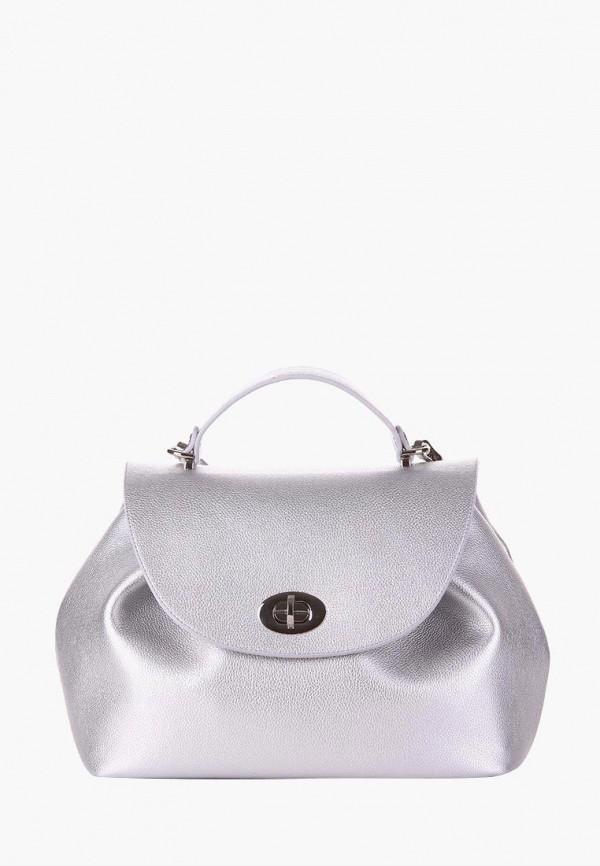 женская сумка alba soboni, серебряная