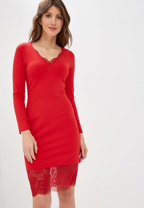 женское повседневные платье fashion.love.story, красное