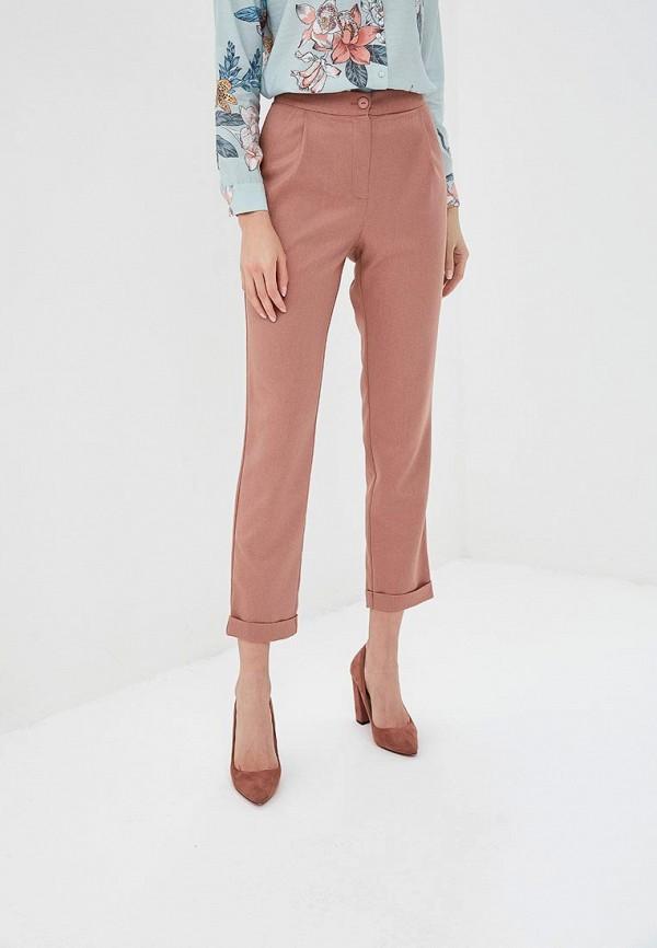 женские повседневные брюки fashion.love.story, розовые