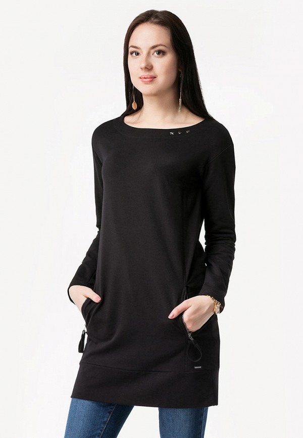женская туника vilatte, черная