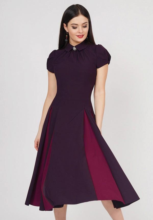 Купить Платье Grey Cat, TEYLOR, mp002xw1icbr, фиолетовый, Весна-лето 2019