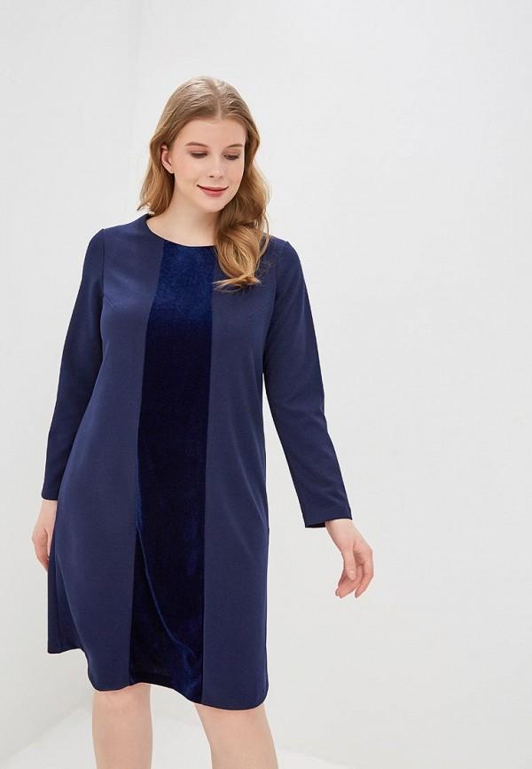 женское повседневные платье forus, синее