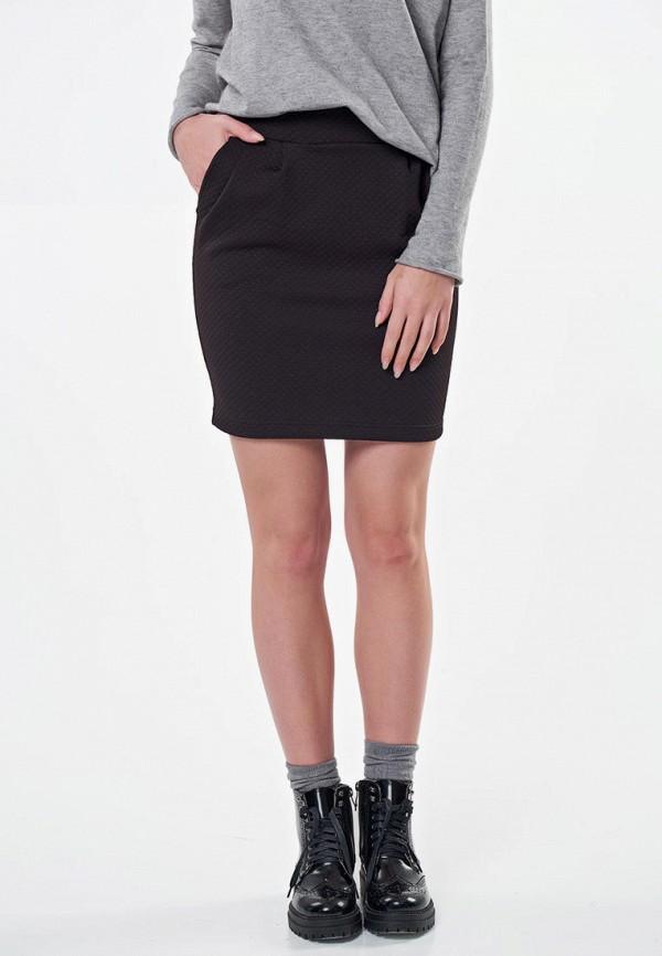 женская прямые юбка fly, черная