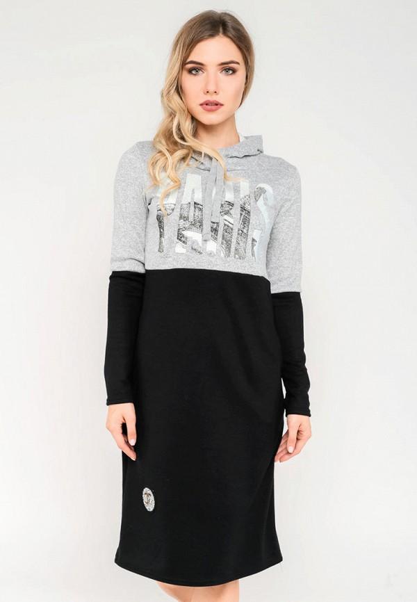 женское платье modniy oazis, серое