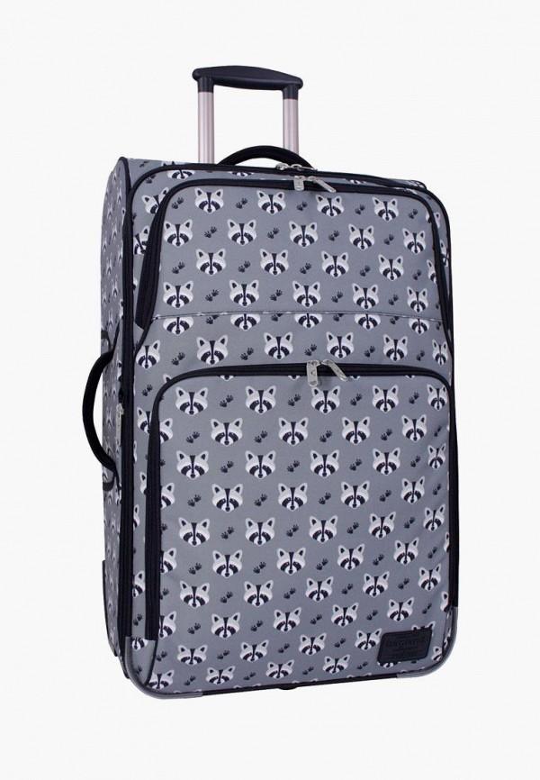 женский чемодан bagland, серый