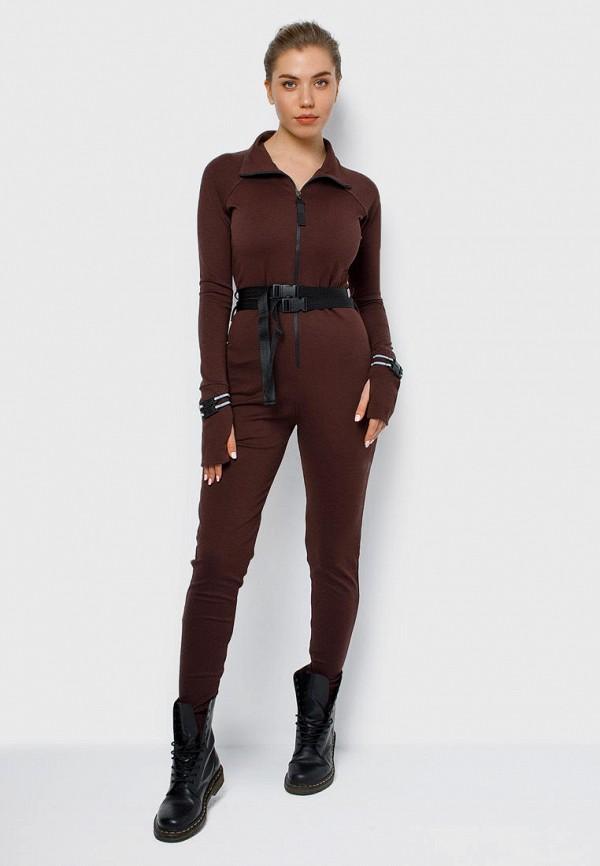 женский спортивные комбинезон malaeva, коричневый