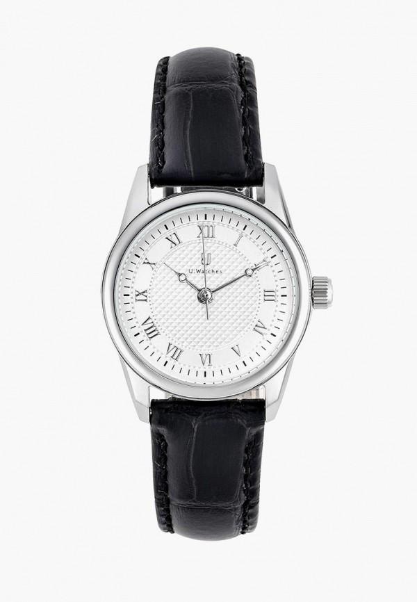 женские часы u.watches, черные